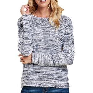 Barbour White Blue Cotton Knitted Sweater